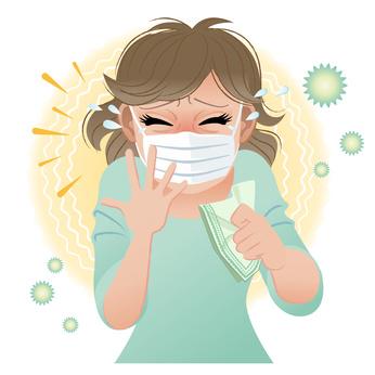 くしゃみ 花粉症 マスク