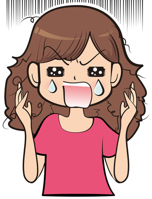 髪の傷んだ女性