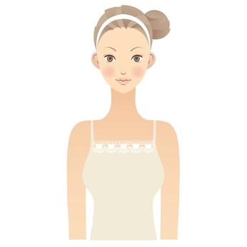 女性 顔 イラスト