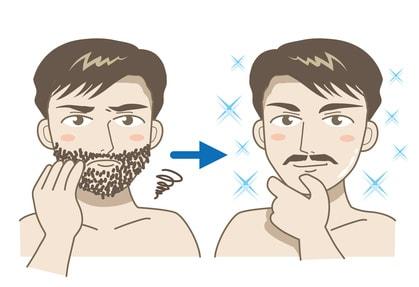 髭をデザインする男性