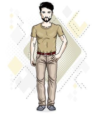 髭が整ってダンディーな男性のイラスト